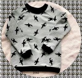 Langärmliges Shirt aus French Terry mit einer niedlichen Waalen!