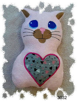 Katze, rosa mit Herz!