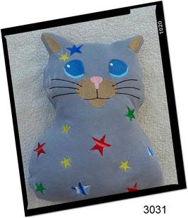 Katze, rosa mit Sternen!