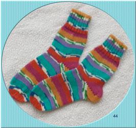Sehr schöne Kinderwollsocken in frischen Farben,4-fädig!