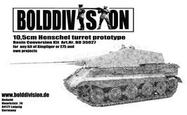 10,5cm Henschel turret prototype