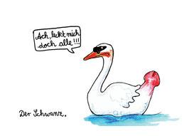 """Postkarte """"Der Schwanz"""""""