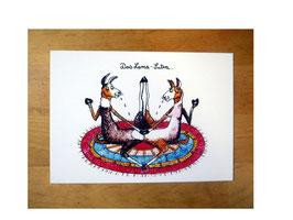"""Postkarte """"Das Lama-Sutra"""""""