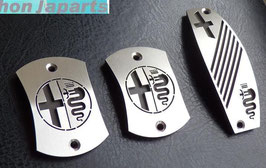 ALFA 147 KIT PEDALES Y REPOSAPIES INOX