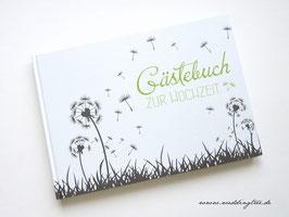 Gästebuch zur Hochzeit - Pusteblume grün