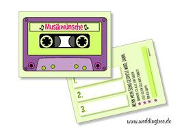 Musikwunschkarten Retro