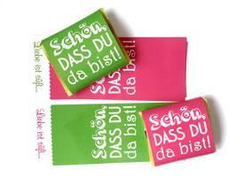 Schokobanderolen Pink & Grün
