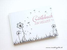 Gästebuch zur Hochzeit - Pusteblume rosa
