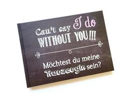 """Hardcoveralbum Tafeldesign """"Willst du meine Trauzeugin sein?"""""""
