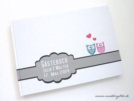 Gästebuch zur Hochzeit - Eulen
