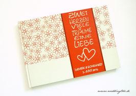 Gästebuch zur Hochzeit - Zwei Herzen Rot