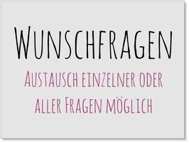 Fragentausch-Service: Gästebuch - Design Männchen
