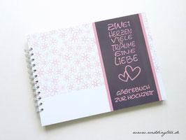 Gästebuch zur Hochzeit - Ringbuch 2 Herzen