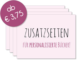 Zusatzseiten Gästebuch - Pink Lady