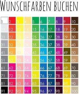 Farbbearbeitung Gästebuch - Rot