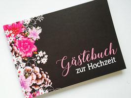Gästebuch zur Hochzeit - Pink / Schwarz