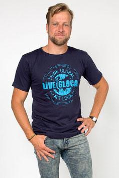 Herrenshirt Live Glocal