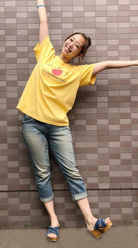 Tシャツ yellow×red