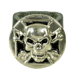 "LEDERRING ""SKULL SHIELD"""