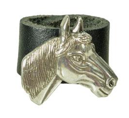 "LEDERRING ""HORSE HEAD"""