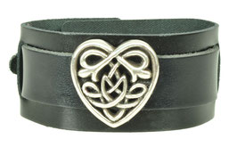 "LEDERARMBAND ""CELTIC HEART"""