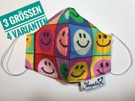 """GESICHTSMASKE - Größe S (Damen) - Modell """"Smiley"""""""