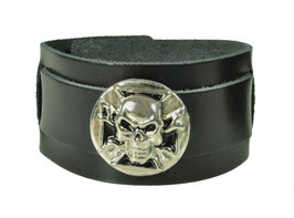 "LEDERARMBAND ""SKULL SHIELD"""