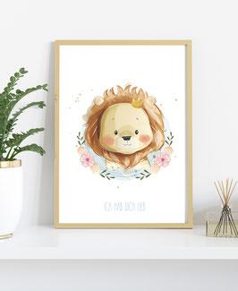 Poster Löwe