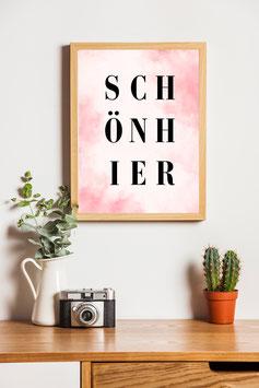 Poster Schön hier
