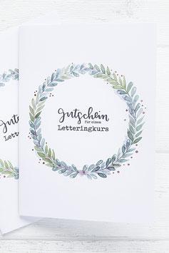 Letteringkurs Gutschein
