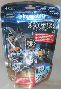 Playmobil 6165 Schwarze App-Kanone mit Seeräuber