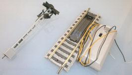Fleischmann 6113 Entkupplungsgleis + Signal H0 Profi Schotter Gleis