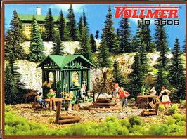 Vollmer H0 3606 Grillplatz mit Hütte