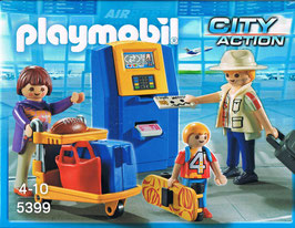 Playmobil 5399 Familie am Check-in Automat