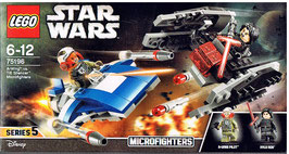 Lego 75196 Star Wars A-Wing vs. TIE Silencer, Microfighters Serie 5