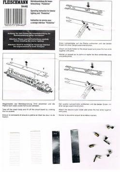 Fleischmann N 9446 Innenbeleuchtung für Pendolino