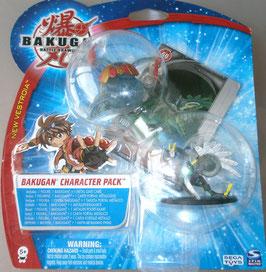 Bakugan Character Pack New Vestroia Dragonoid Silver Metal Gate Card 20033774