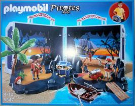 Playmobil 5347 Piratenschatzkoffer Aufklapp-Spiele-Box zum Mitnehmen