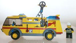 Lego City 7891 gelber Flughafen Feuerwehrwagen, gebraucht