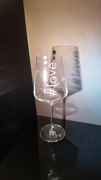 #hashtag - Weißweinglas