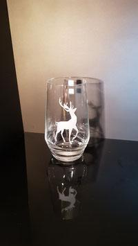 Hirsch - Trinkglas