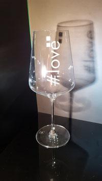 #hashtag - Rotweinglas