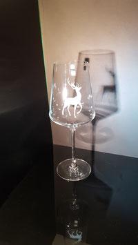 Hirsch - Weißweinglas
