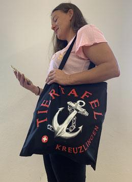 Robuste Stofftasche mit Tiertafel-Logo für den täglichen Einkauf