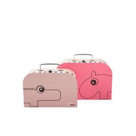 Papp-Koffer 2er Set