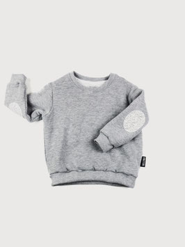 Pullover mit Dots Patches - Grau