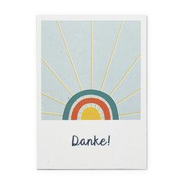Postkarte Regenbogen 'Danke!'