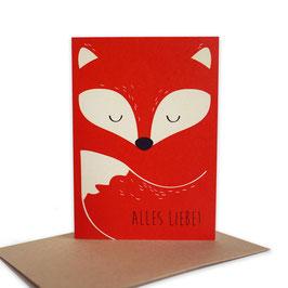 Grußkarte Fuchs 'Alles Liebe!'