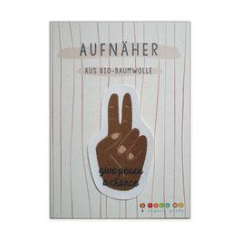Aufnäher Friedenszeichen 'give peace a chance' N°2