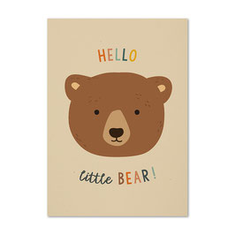 Postkarte 'Hello little Bear!'